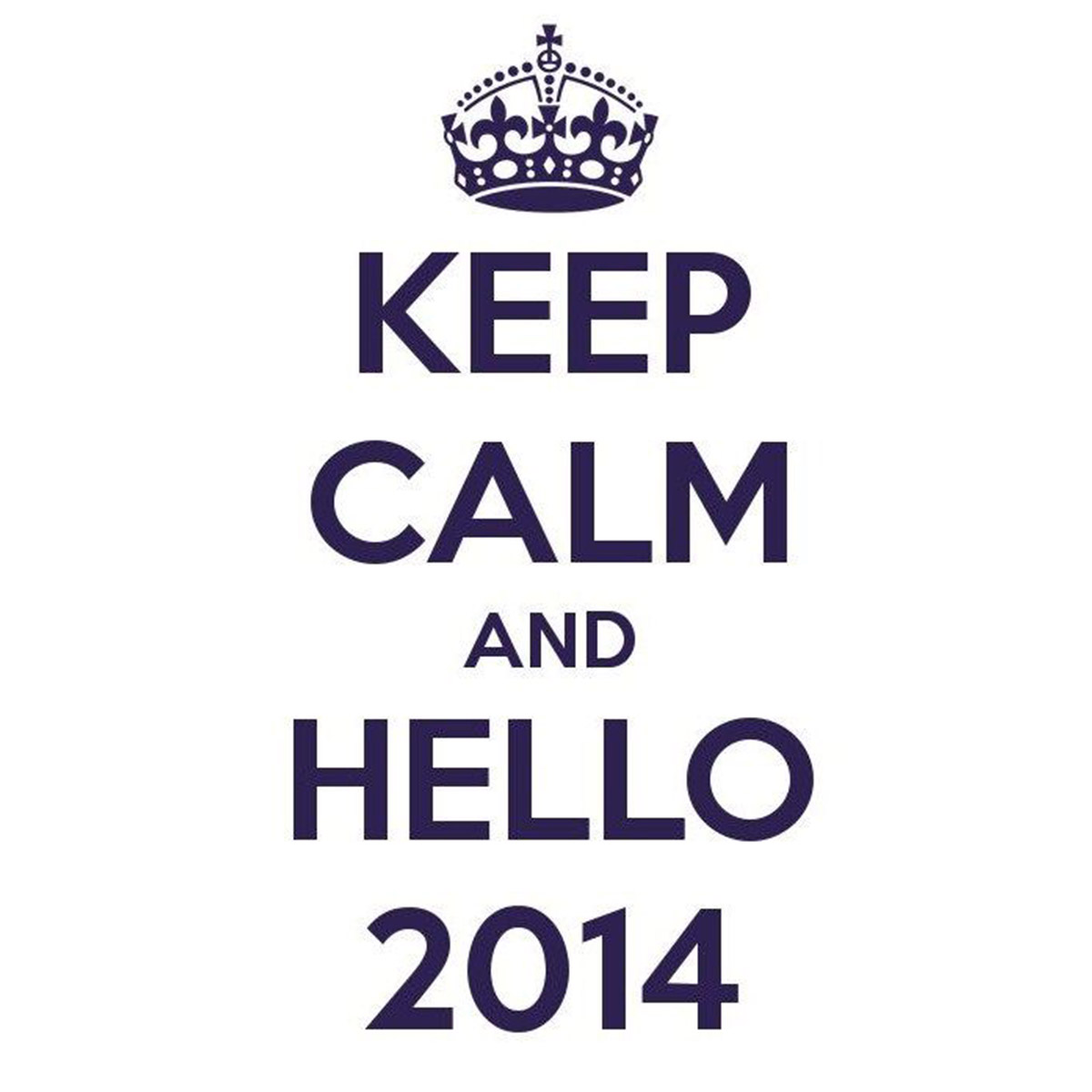 Keep calm and hello 2014 copie