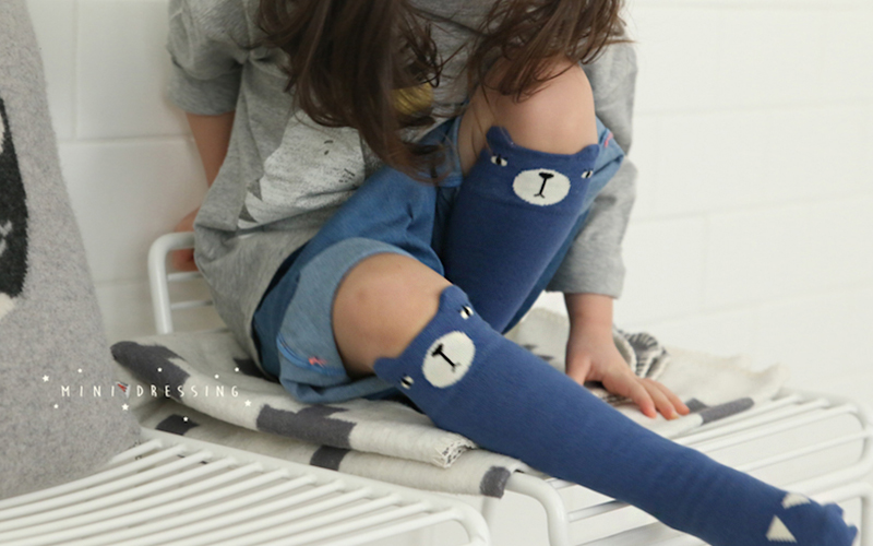 Chaussettes mini-dressing ours bleu