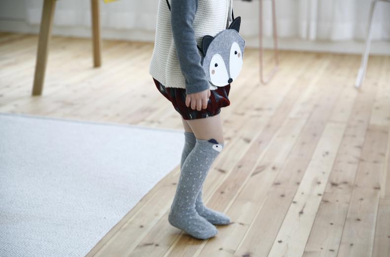 Chaussettes mini-dressing raccoon gris