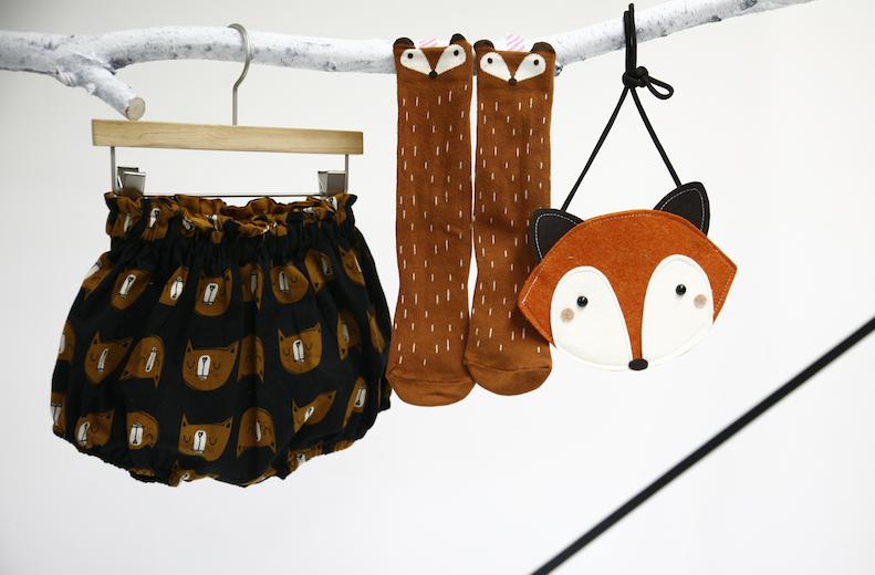 Chaussettes mini-dressing raccoon orange