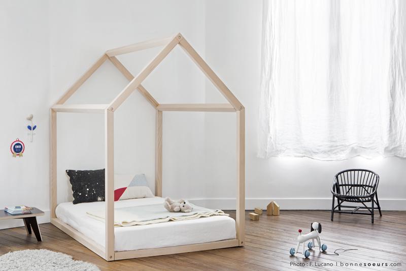 Lit cabane enfant cocoeko - Bois pour lit cabane ...