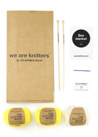 Kit tricot couverture bébé jaune - We are knitters
