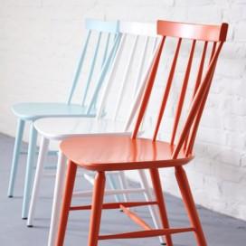 chaise scandinaves laquée blanche - Landmade
