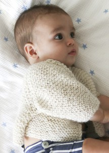 cardigan en tricot laine baby alpaga naturel - We are knitters