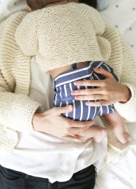 tricot bébé cardigan petite laine naturel - We are knitters