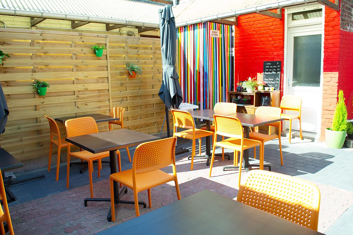 Pop Cup Café Céramique - la terrasse