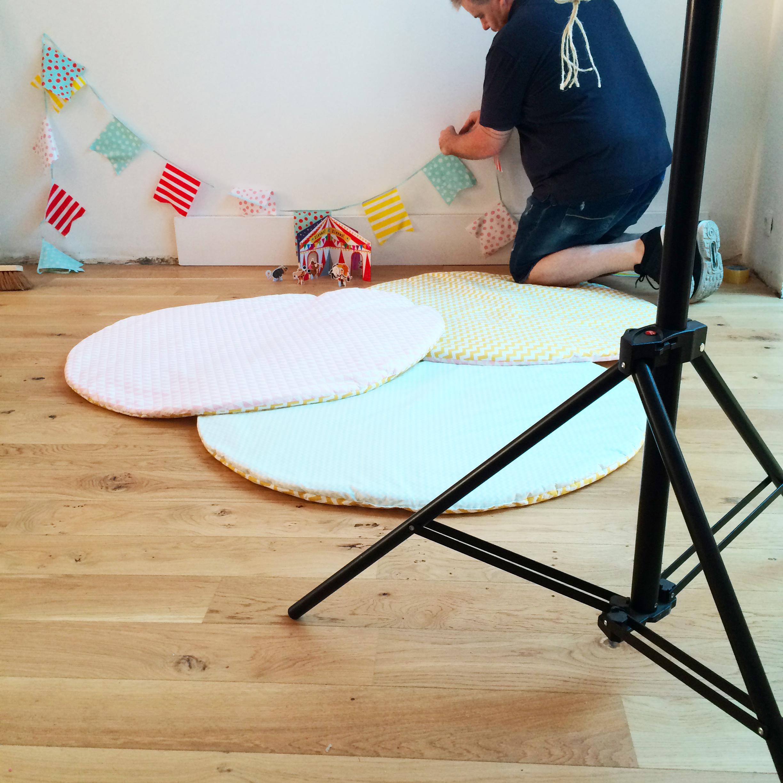 Mise en place du décor tapis