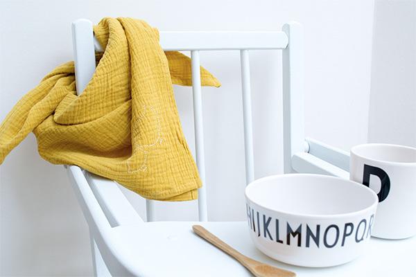 lange bebe gaze de coton moutarde cocoeko