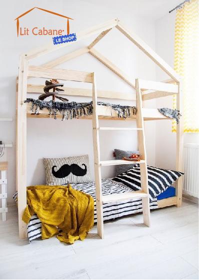 lit cabane superpose lit cabane cocoeko. Black Bedroom Furniture Sets. Home Design Ideas