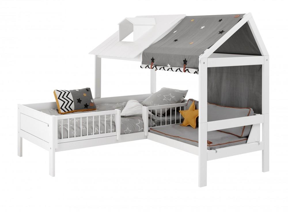 le lit cabane l 39 incontournable de la chambre enfant cocoeko. Black Bedroom Furniture Sets. Home Design Ideas