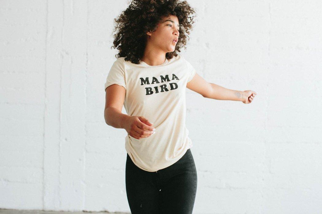 mama bird tee shirt ivoire