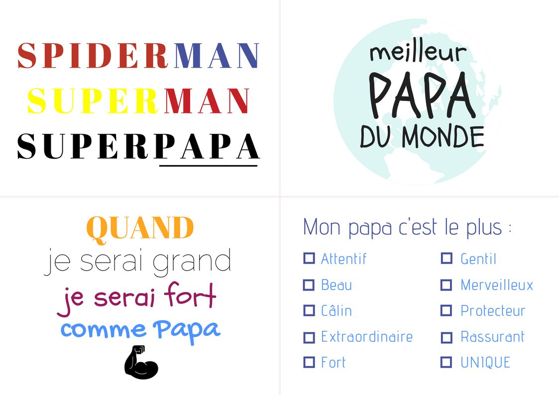 carte à message papa