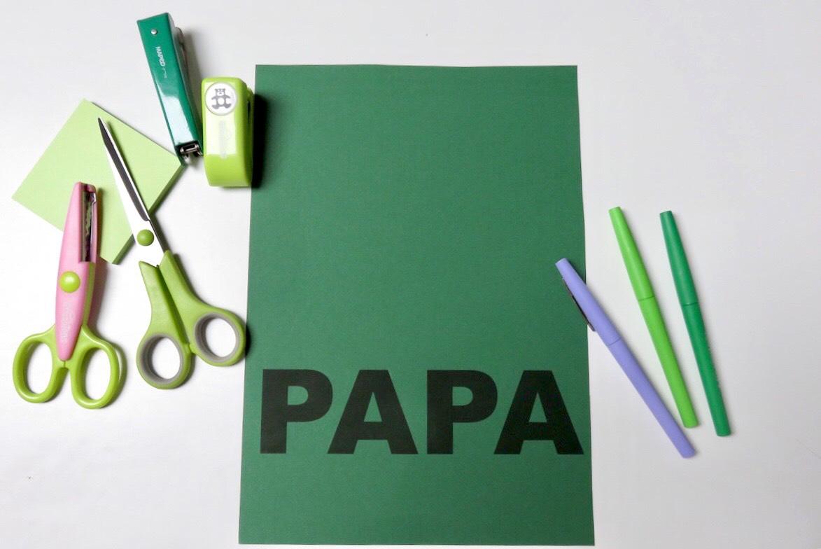 carte DIY PAPA spécial fête des pères