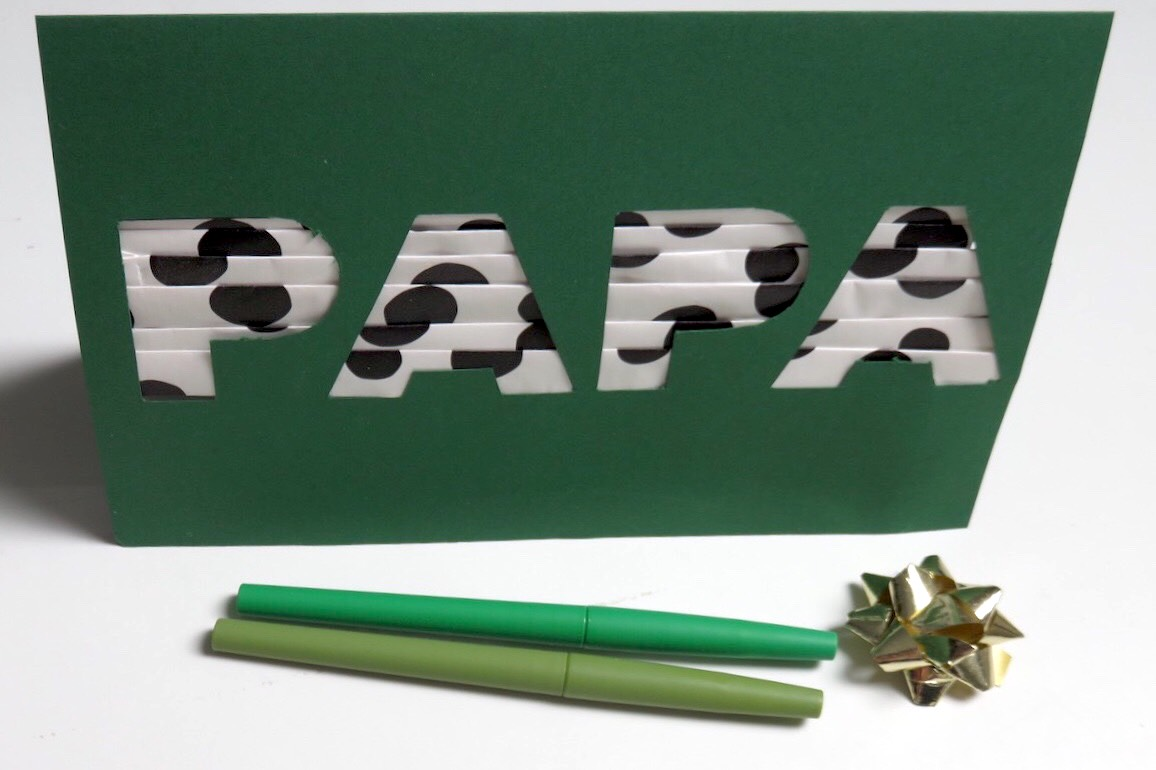 carte DIY papa étape 3