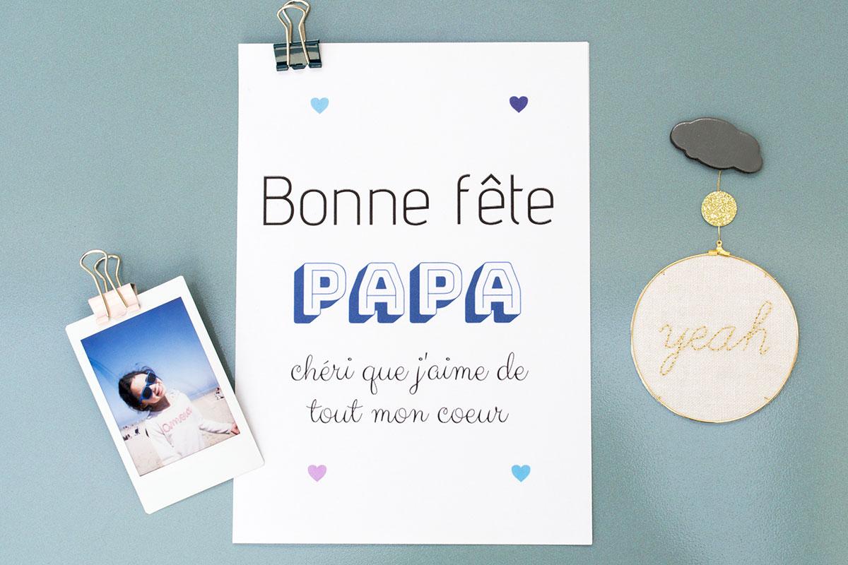 carte bonne fête papa chéri