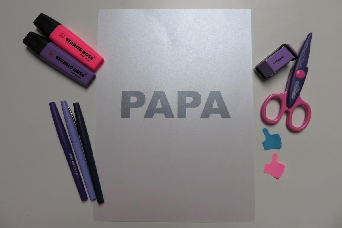 carte papa 3D
