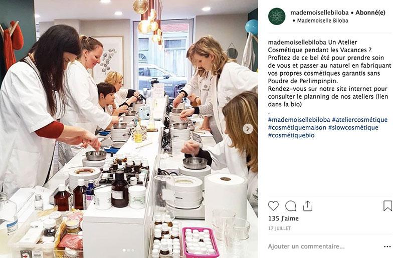 mademoiselle biloba atelier cosmetique naturelle